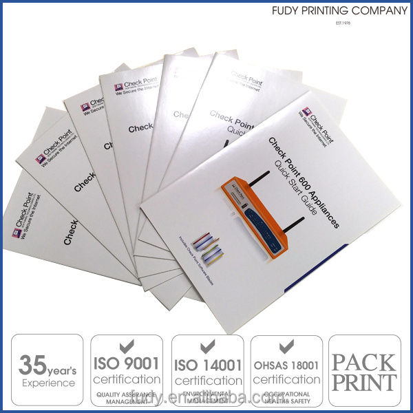 Custom Design brochure with laminating cover