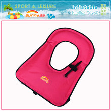 Customized Polyester PVC Backing Adults & Kids Inflatable Swimming Vest