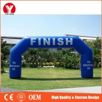 Customizable logo inflatable entrance finish line advertising arch