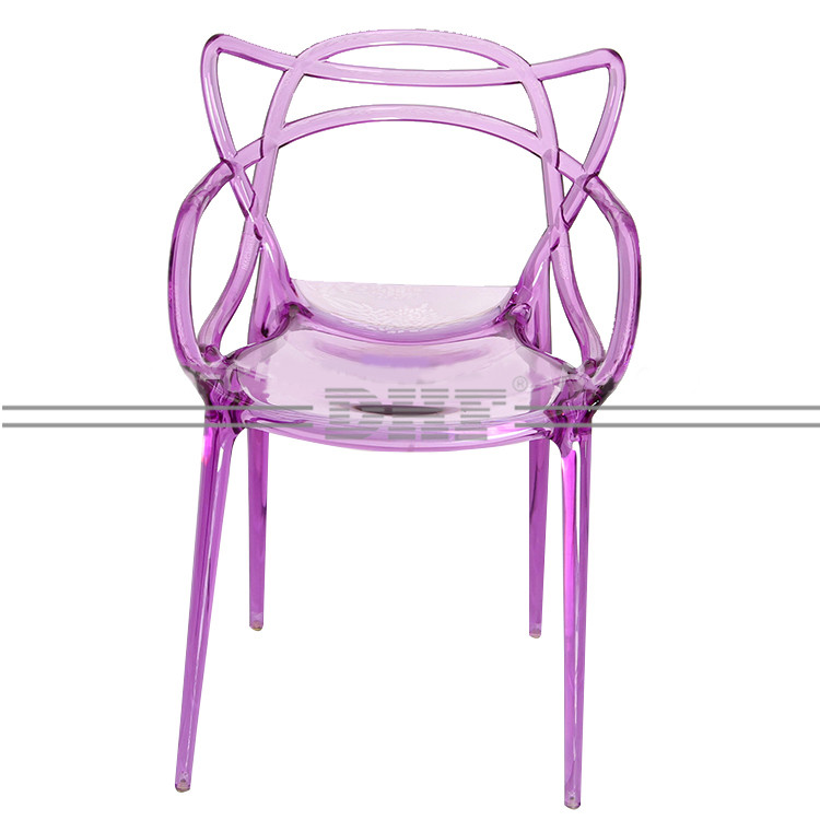 China High Quality Cruved Line Arm Geometry Design New Promotional Colorful Kitchen Chair