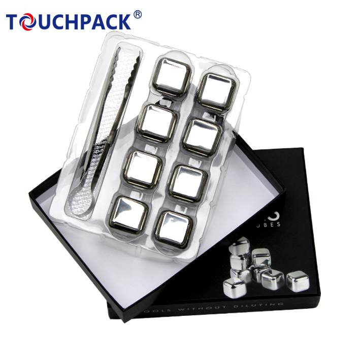 Alibaba Top Supplier Stainless Steel Chilling Reusable Ice Cubes for Whiskey <strong>Wine</strong>