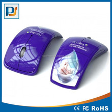 Optical Foldable Folding Arc Wireless Mouse with full color printing