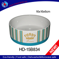 America style ceramic pet cat food bowl and dog feeds trough