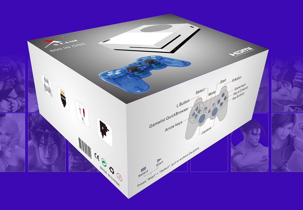 Support Connect TV Handheld Game Console Pre-installed 600 Classic Video Game for X-GAME