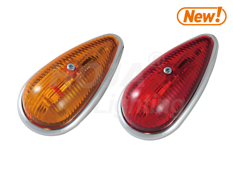LED Cab Marker Clearance Light Tear Drop 12v led light caravan