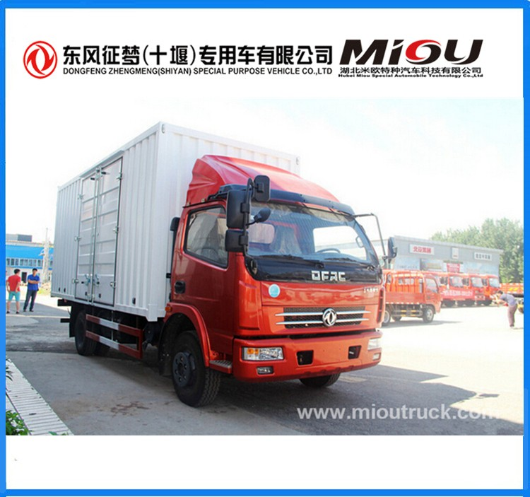 Dongfeng Cargo Truck 4x2 White Color Van Trucks for sale