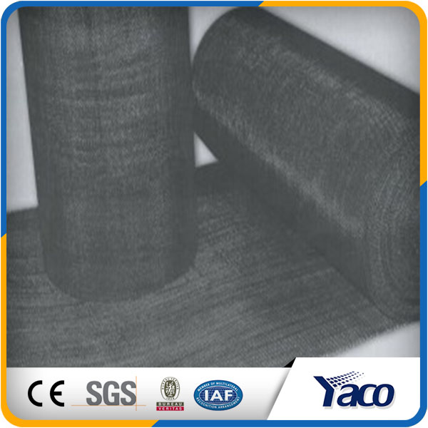 black wire cloth sheet, black wire mesh price rolls