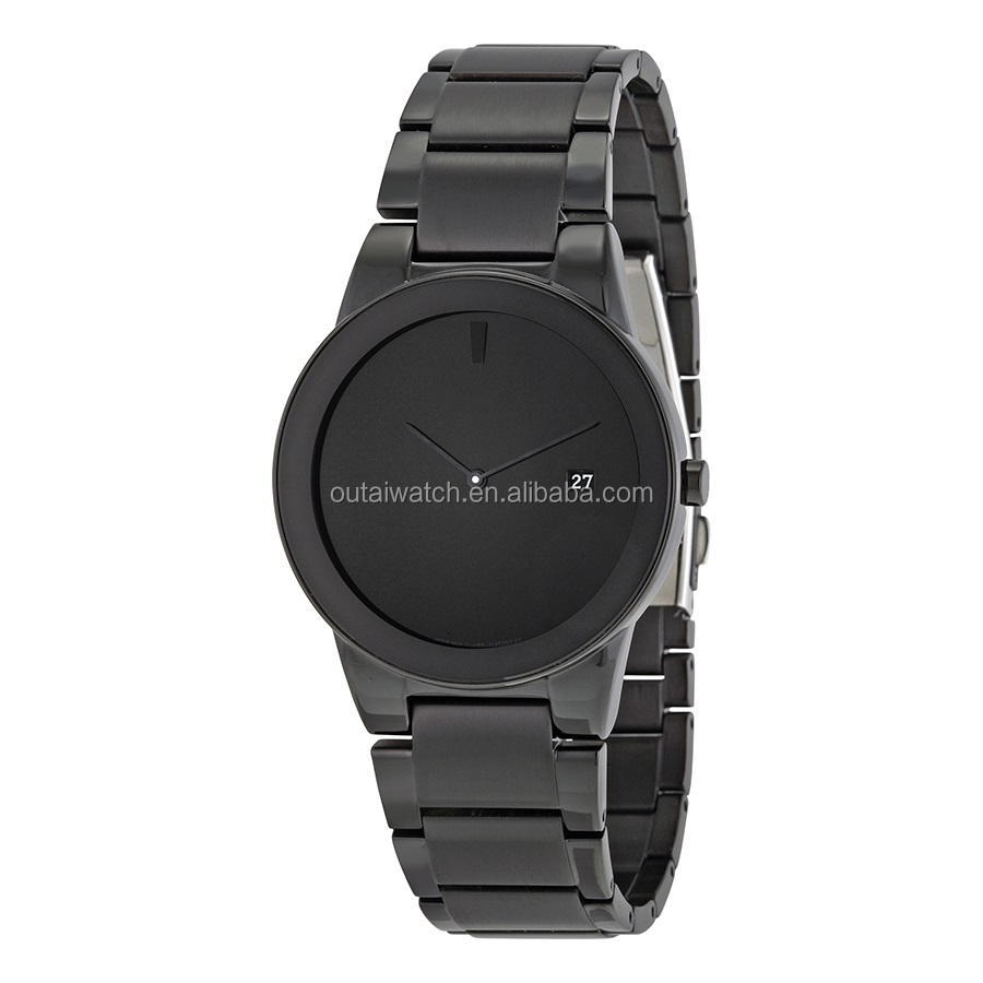 blank dial japan movt quartz watch with simple design