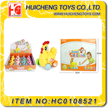 Small plastic animal cartoon chicken wind up toy for kids