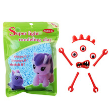juguetes al por mayor educational diy foam slime kit for kids shop ice cream snow light undry diy shape modeling pearl clay tool