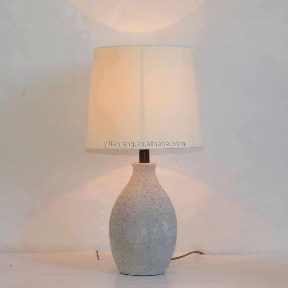 Concrete lamp base fabric lampshade modern Table Lamp
