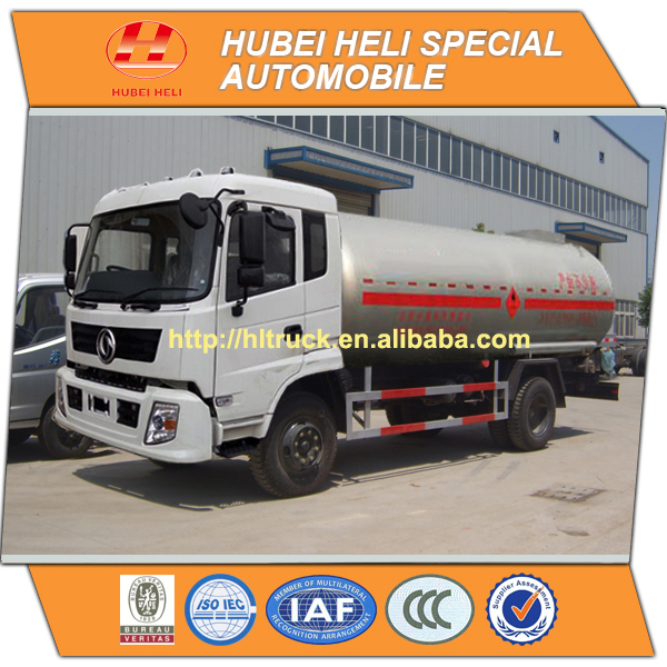 NEW DONGFENG 4x2 LPG gas tank truck 15CBM 190HP hot sell cheap price