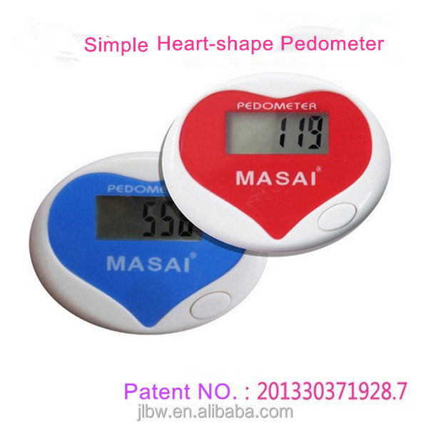 Medical novelty gifts simple heart-shape pedometer High quality cheap stop watch