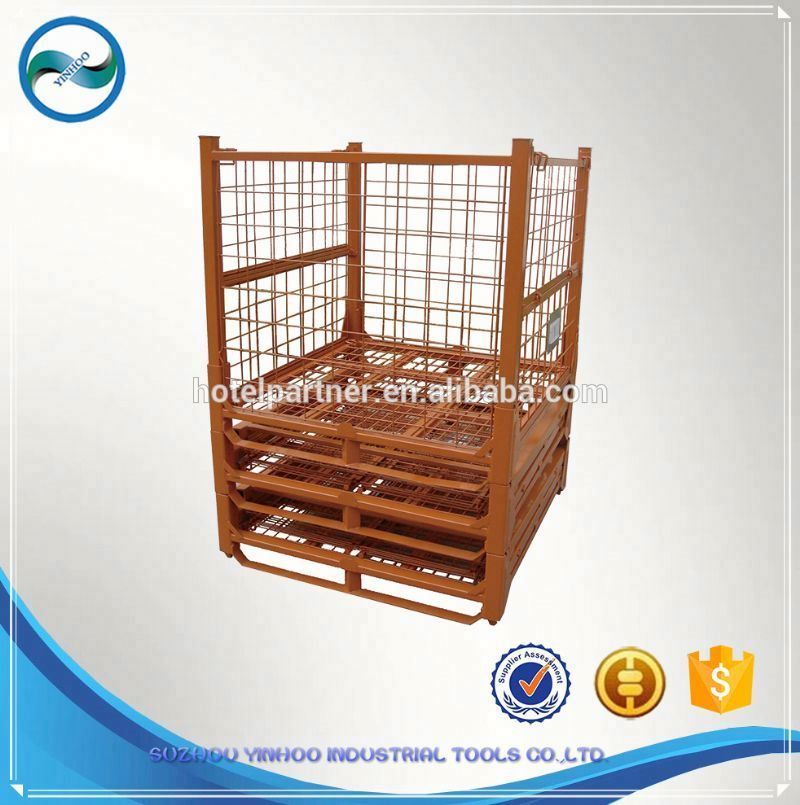 Industry Foldable Metal Wire Mesh Storage Container/Box