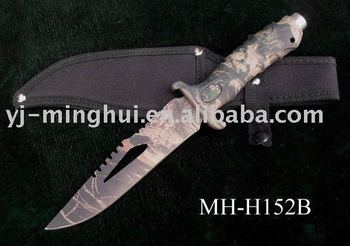 Hunting knife/fixed blade knife/camo coated hunting knife