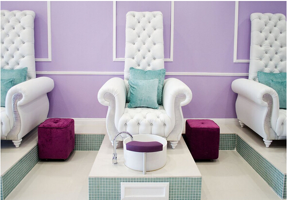 Luxury And Queen Chair Manicure Nail Salon Furniture With Table Mage
