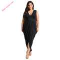 Black Party Draping Maxi Plus Size Styles Online Dress Shopping