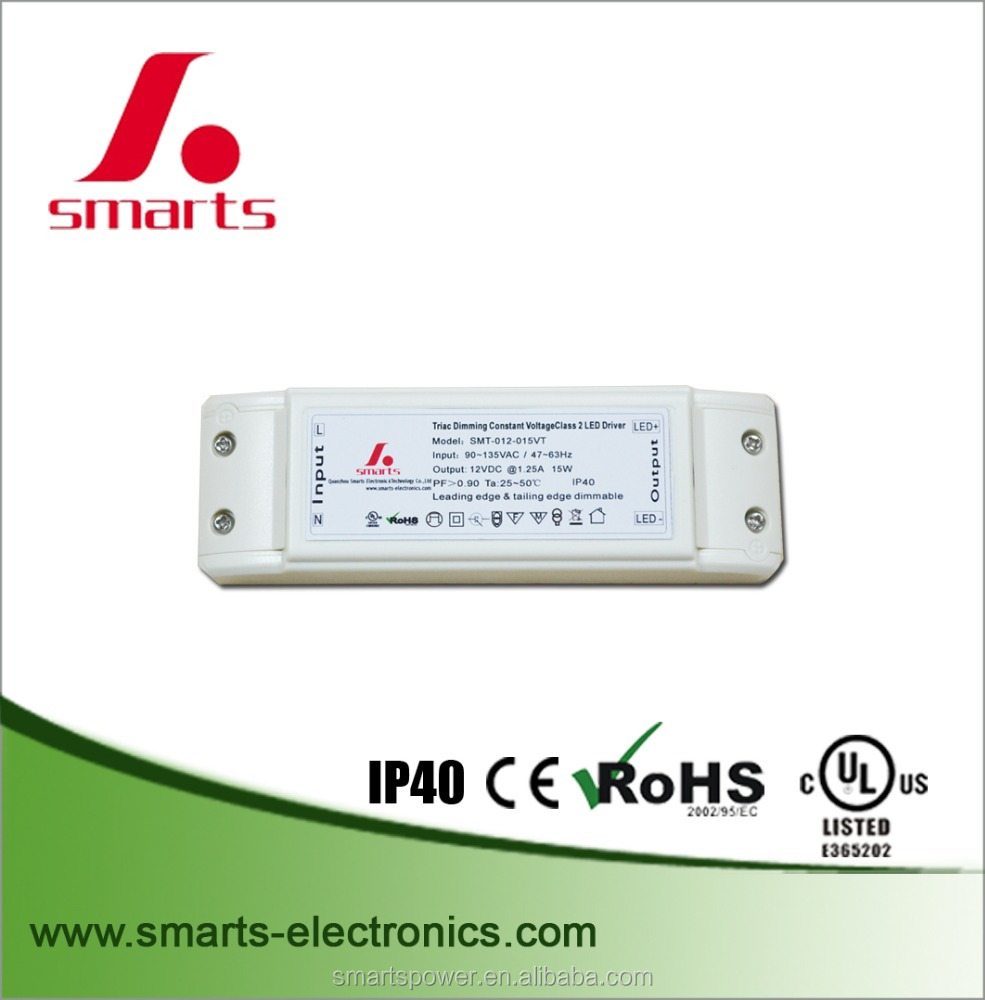 12vDC constant voltage triac dimmable led driver