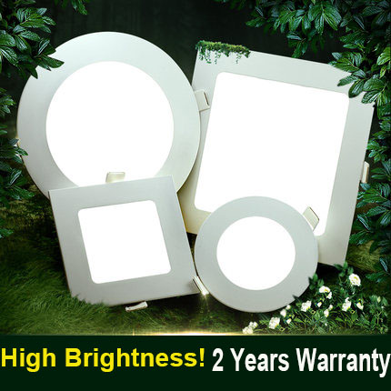 Round Square Shape Led bulb 6w 12w 18W Led panel Light SKD parts