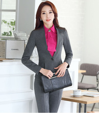2016 newest fashion lady office pant suit