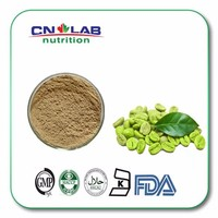 100% nutural Hot selling Green Coffee Bean Extract powder Coffea Arabica L