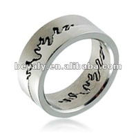 Irregular wave curve stainless steel fashion cloth finger ring