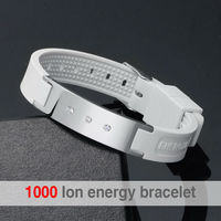 Wholesale Fashion Health Bio Magnetic Titanium Bracelet With Colorful Silicone