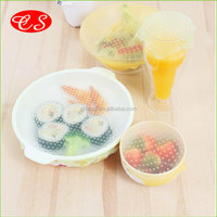 Factory price food grade stretch wrap film to keep foods fresh silicone wrap eco-friendly clear lid silicone food wrap