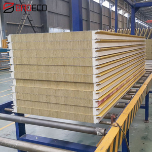 Factory Price Insulated Sips Kingspan Rock Wool Sandwich Panel