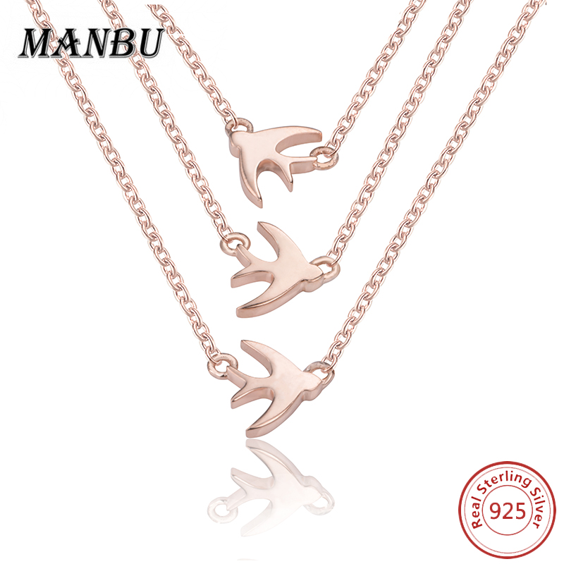 925 sterling silver three dove pendant necklace bridal jewelry <strong>set</strong> JN7669-P