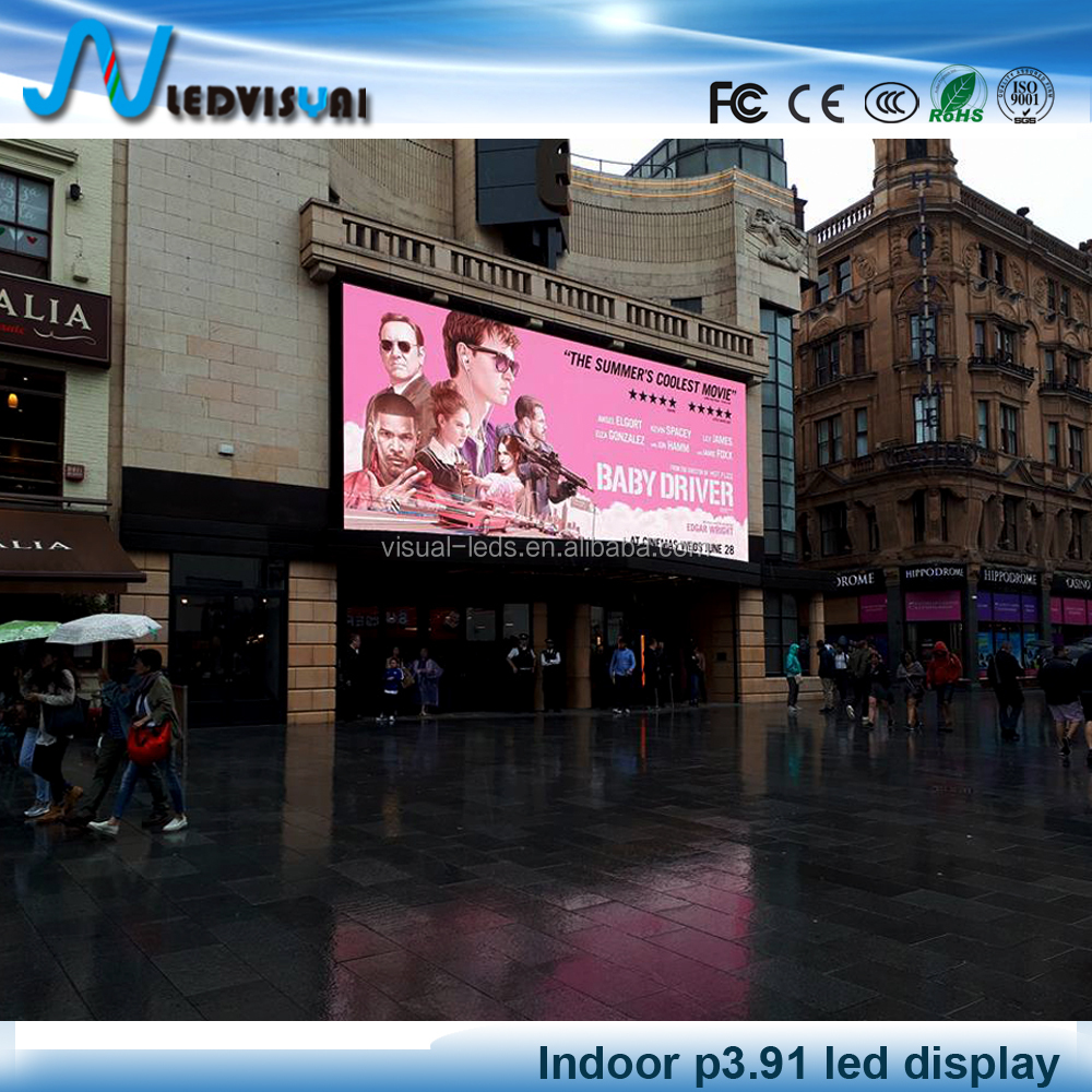 P 3.9 indoor full color led screen for video display
