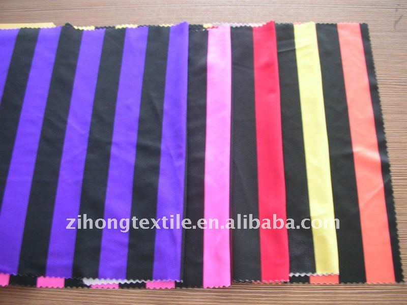 "1"" stripe printed poly fabric"
