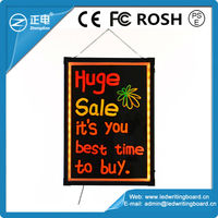 Low price safety packaging pavement signs RGB5050 90 flashing modes led illuminated board fluorescent display board