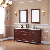 S-3180 America solid wood double sink Bathroom Cabinet