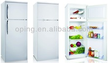 Double door home use up freezer bottom fridge refrigerator with Light Lock Key BCD-230