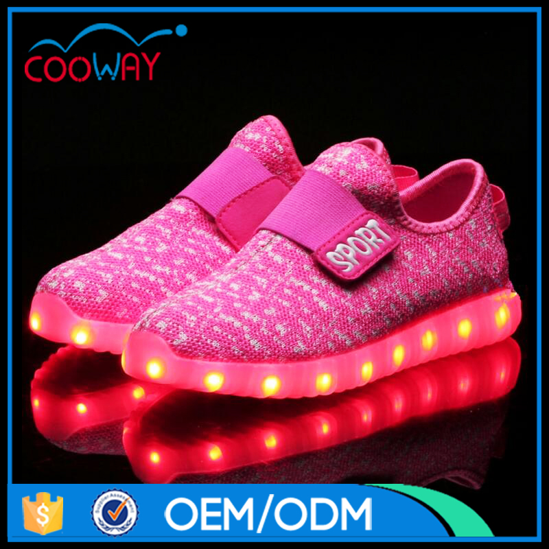newest designed metallic PU metallic led shoes, kids/adult sports shoes