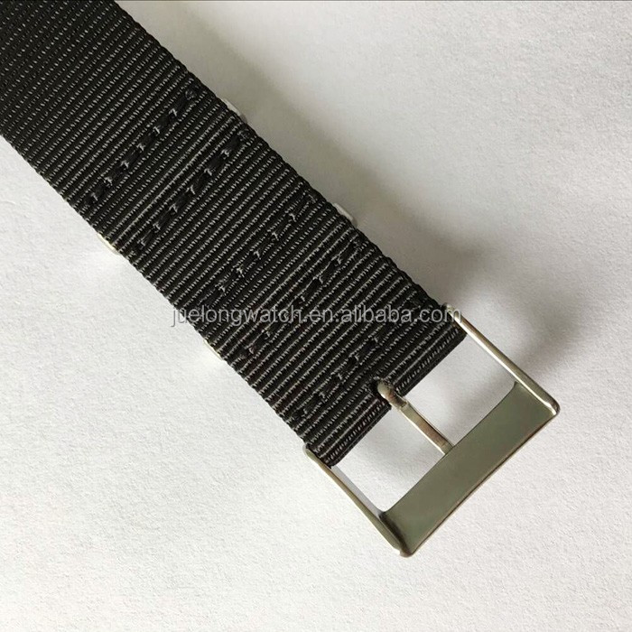 2017 Brushed Watch Hardware Manual G10 Black Nylon NATO Strap