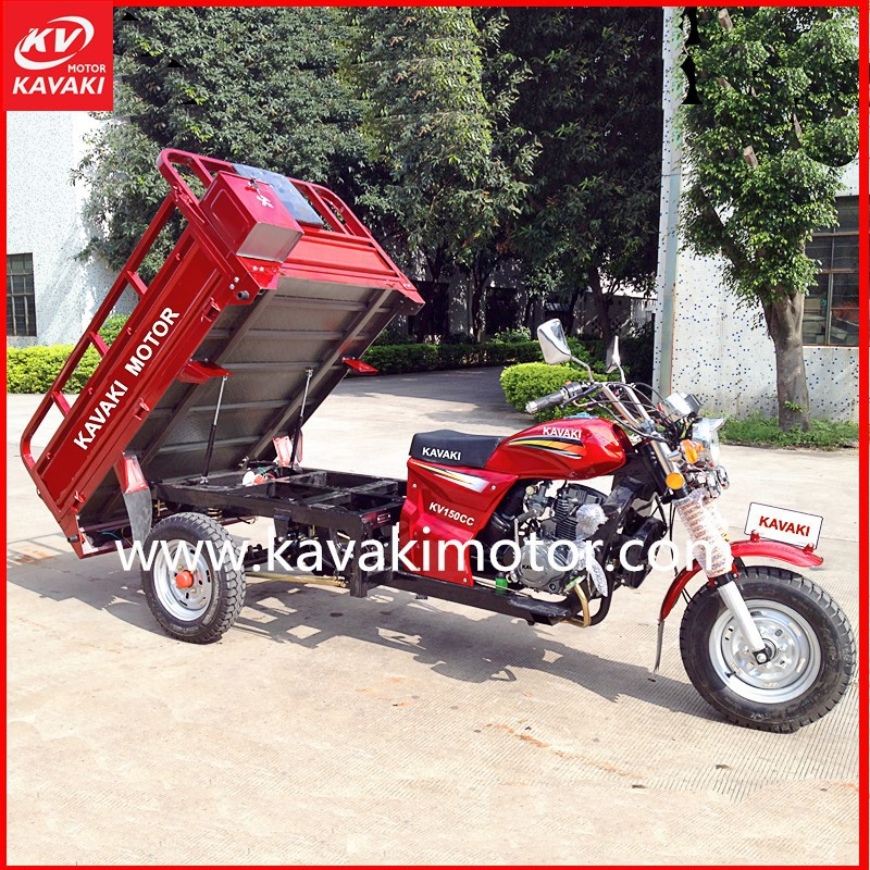 Gasoline 200cc Three Tyres Cargo Motorbike With Durable Cargo Container
