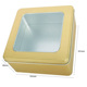 Square tin box with clear PVC window for clothes packaging