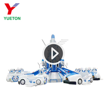 Kiddie Rotary Theme Amusement Park Playground Equipment Self Control Plane Ride Aircraft For Kids