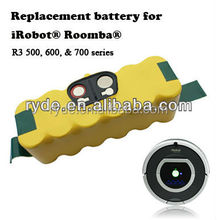 Rechargeable vacuum cleaner batteries / Ni-MH 14.4V 3500mah for roomba 500, 600, 700 series Vacuum Cleane