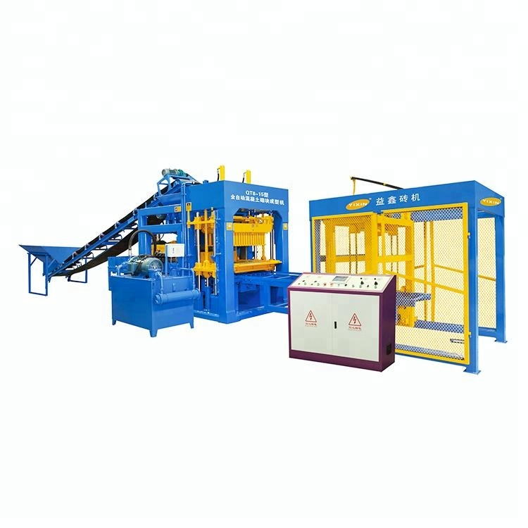 Full automatic block and interlocking QT8-15 brick making machine price