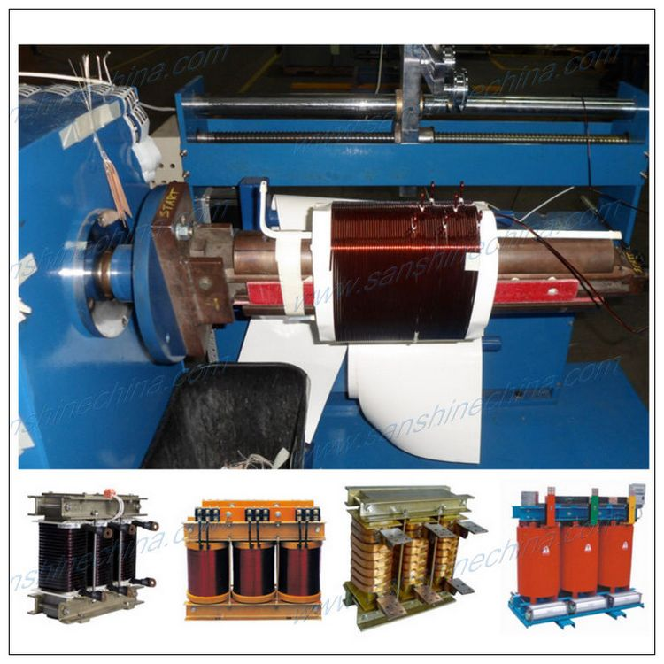 Automatic high torsion electric power transformer coil winding machine SS810