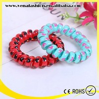 good quality different sizes printing telephone line hair band