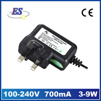 ES 9W Constant Current plug-in LED Driver, 240VAC-DC wall mounted led driver