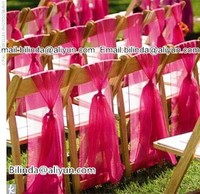 7*108inch organza chair sash