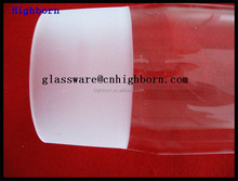 clear large diameter quartz glass tube connected with small tube