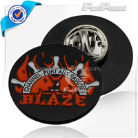 "Bowling ball marker and ""BLAZE' totem character pins badge"