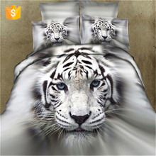 bedding set 100% cotton 3d printed reactive printing natural animal printed bedsheets