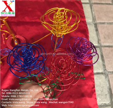 beautiful rose /colorful aluminum wire <strong>craft</strong>